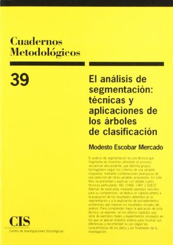 El Análisis De Segmentación: Técnicas Y Aplicaciones De Los Árboles De Clasificación (Cuadernos Metodológicos)