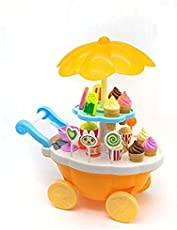 HEER Ice Cream Play Set Toy with Lights and Music bettery oprated (HCCD Enterprise (Orange)
