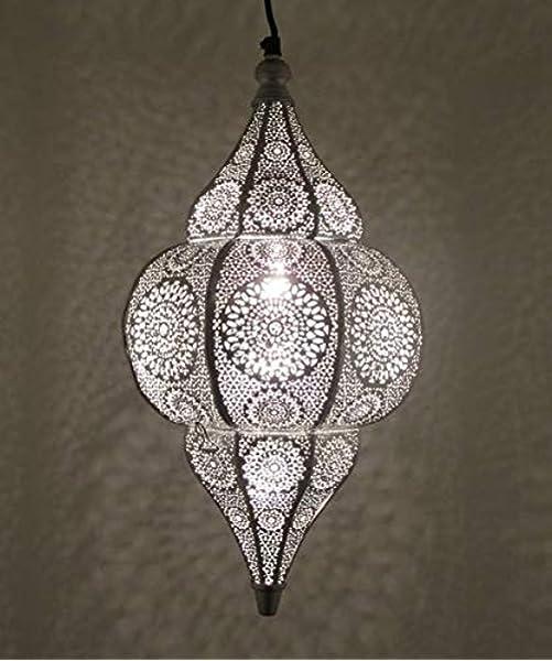 Orientalische  Arabische Hängeleuchte Deckenlampe Silber Nr.57 NEU