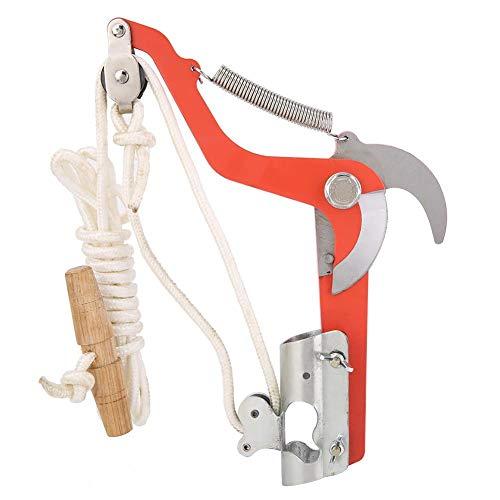 Jeffergarden Gartenschere Hochschere mit Seilrollen Bonsai-Werkzeuge für Friut Tree Handhobel-Holzdrehmaschine Vielzweck-Schere mit dicken Schrägästen zum Gartenschneiden
