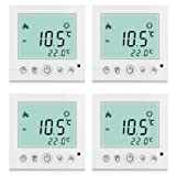 4x BYC16.H3 16A Excelvan® Weiß Heizung System Thermostat Smart Digital LDC Display Heim Raumthermostat