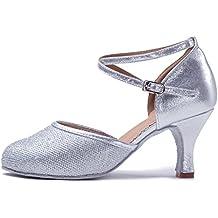 2a791d31 YKXLM Mujeres&Niña Zapatos latinos de baile Zapatillas de baile de salón  Salsa Performance Calzado de Danza