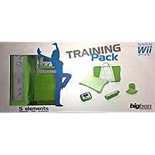 Pack : revêtement silicone + sac de transport matelassé +  2 protège-poignets +  étui rangement Wii Remote +  podomètre