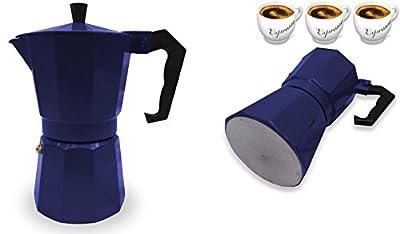 Italian Espresso Stove Top Coffee Maker Pot 3 Cup blue