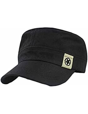 waygo Fashion Unisex techo plano Militar sombrero cadete patrulla Bush sombrero gorra de campo de béisbol