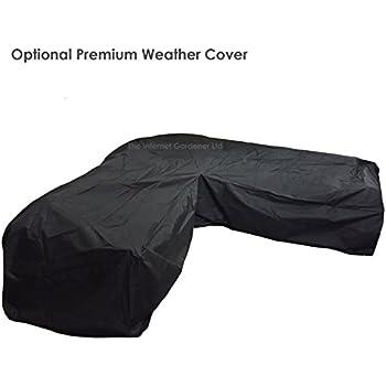 High Quality Black Outdoor 'L' Shaped Rattan Corner Sofa ...