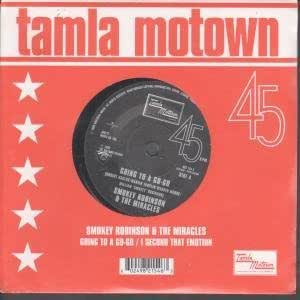"GOING TO A GO-GO 7"" (45) UK TAMLA MOTOWN 1965 STILL SEALED 45TH ANNIVERSARY REISSUE B/W I SECOND THAT EMOTION (9821546) DIE CUT PIC SLEEVE"