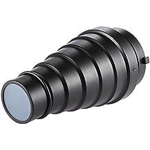 Andoer–Metal de Snoot (con panal 5pcs filtro de color Kit para Bowens Studio Berg Strobe Monolight fotografía Flash