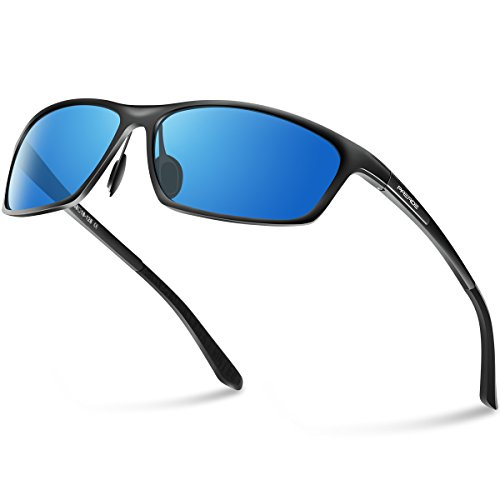 PAERDE Herren Fahren Polarisierte Sonnenbrille Al-Mg Metallrahmen PA07