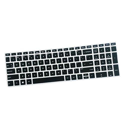 Sharplace Ultra Dünne Silikon Haut Keyboardschutz Tastatur Abdeckung Schutzfilm Folie für HP 15,6 Zoll BF Tastatur - Schwarz Laptop-tastatur-haut-hp