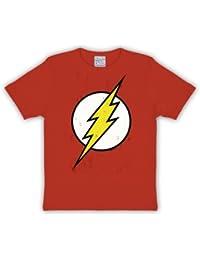 Insignia de destello productos Camiseta de la marca DC Comics ardiente de  material resistente rojo 70eaae91b05b1