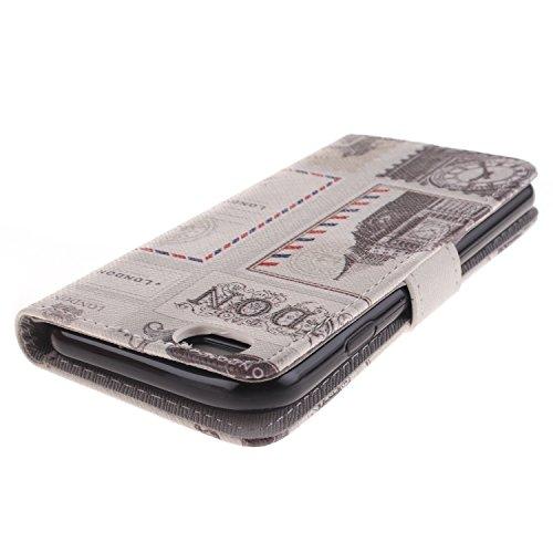 Ooboom® iPhone 5SE Coque PU Cuir Housse Étui Flip Cover Case Portefeuille Wallet Supporter avec Carte de Crédit Fentes Fermoir Magnétique pour Apple iPhone 5SE - Pissenlit Amour Union Jack