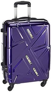 Safari Polycarbonate 65 cms Purple Suitcase (Traffic-65-Purple-4wh)