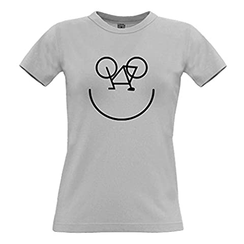 Fahrrad-Smiley, Printed Designer Logo Neuheit Radfahrer Kunstsommer Frauen T-Shirt
