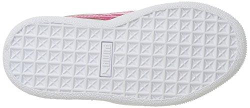 PUMA Unisex-Kids Vikky Platform AC PS Sneaker  Gray Violet-Beetroot Purple Silver  3 M US Little Kid