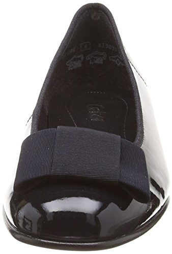 Gabor Fashion 05.100 Damen Ballerinas Blau (Patent/Rips)