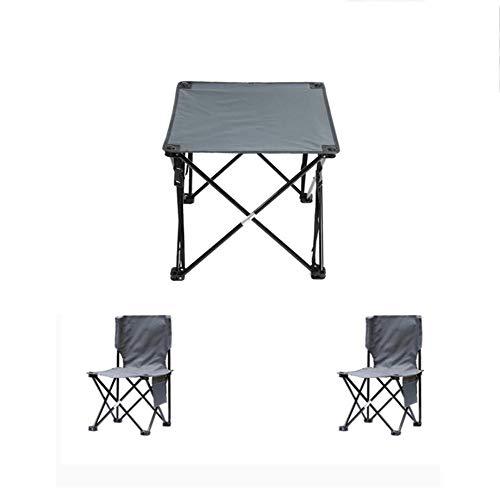 YUWJ Camping hocker Falten tragbare licht Camp hocker im freien billig tragbaren klappstuhl geeignet für Strand Grill Reise Picknick,Gray,threepiece