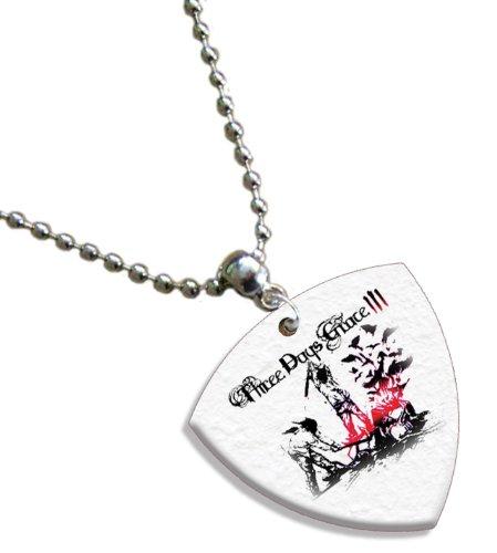 Three Days Grace Bass (1mm Heavy gauge) Gitarre Pick Plektron Kette -