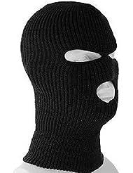 BeautyLife 3 Trous Masque/ Cagoule de Police Couleur Noire Police - Swat - Gign - Raid - Forces spéciales - Airsoft- Paintball - Ski - Snow - Surf - Montagne - Outdoor