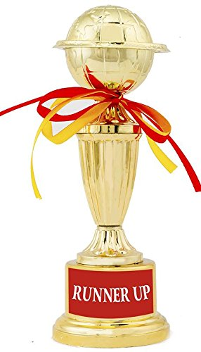 Runner Up Trophy/Award/Gift by Aark India - 10 Inch Height (PC 00320)