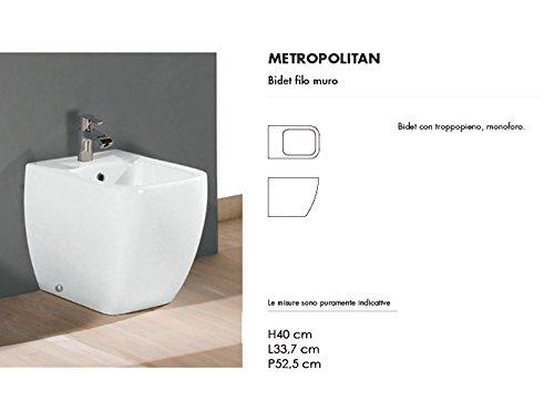 Rak Floor toilets and bidet Metropolitan white floor bidet MEBI00001