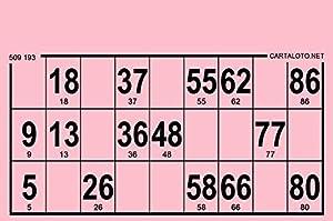 CARTALOTO-1000 Cartulinas de Loto rígidas, Formato estándar, Grosor 1,5 mm, Color: Rosa, GTRI1000-04, Multicolor