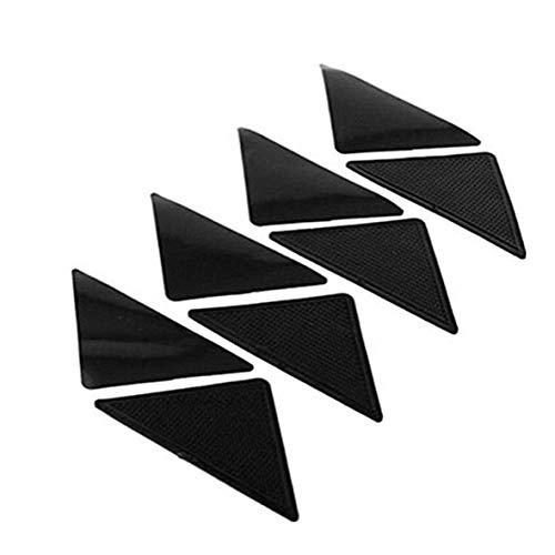 Heaviesk Teppich Grippers 4 Stück Anti-Rutsch-Teppich Teppich Matte rutschfeste Griff Kleine Ecken Dreieckige Auflage Abwaschbar Abnehmbarer Starker Kleber -