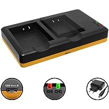 Cargador doble (Corriente, USB) para Canon LP-E10 / EOS 1100D, 1200D, 1300D / EOS 1D X (Mark II) ...   Fuente de alimentación incluido
