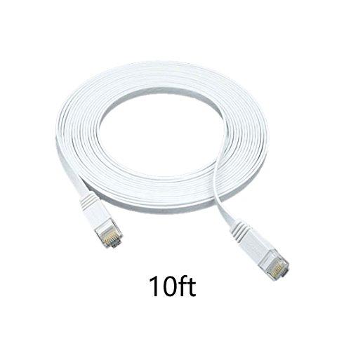 3m - 1 Stück 1000 Mbit/s Gigabit Lan | Flach | Slim | Patchkabel | Verlegekabel Multi Kabel Flach Cat6 RJ45 Snagless Netzwerk Ethernet-Patchkabel Everlasting & höchst zuverlässig Cat6-Ethernet-Kabel unterstützt bis zu 550 MHz und ist am besten für Fast Ethernet, Gigabit Ethernet und 10-Gigabit-Ethernet Mediabridge 6 Füße