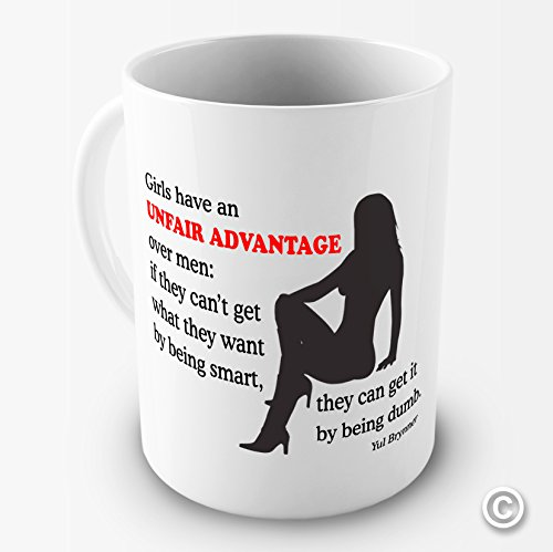 TWISTED ENVY - Taza de cerámica Divertida con Texto en inglés Have an Unfair Advantage Over Men