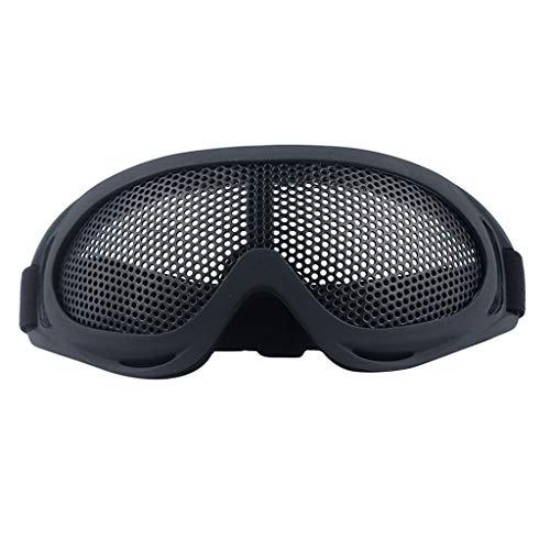 perfeclan Metallgitter Skibrille Outdoor-Sport Snowboard-Schutzbrillen mit Anti-Nebel UV-Schutz Ski-Schutzbrillen - schwarz