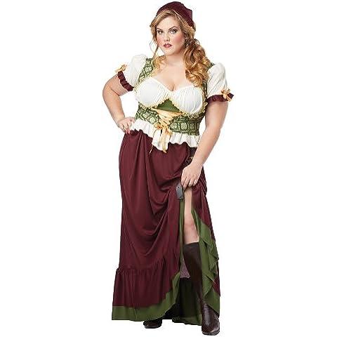 Ladies Medieval Renaissance Peasant Lady Plus Size Fancy Dress Costume