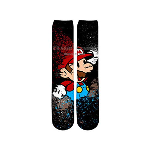 Eanijoy Lustige lässige Baumwollsocken, Crew Socke, Game Super Mario Socks Street Cosplay Cotton Comics Women Men Donkey Kong Mario Bros Socks Party Novelty Funny Party SC1