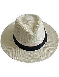 YUUVE chapeau de paille d'été chapeau de panama chapeau de soleil à la mode