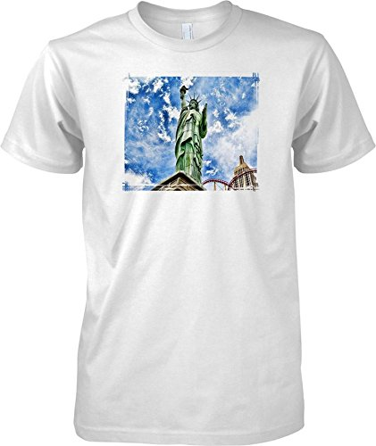 Statue Of Liberty Design - Mens T Shirt - White - Adult Mens 42-44