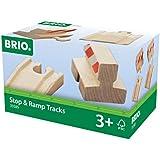 Brio  - 33385 -  Circuit de train en bois  -  Coffret Rails montées + Butoirs Arrêt