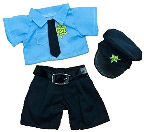 Polizist Polizei Outfit Kleidung, um 20,3–25,4cm Teddybären (20cm)