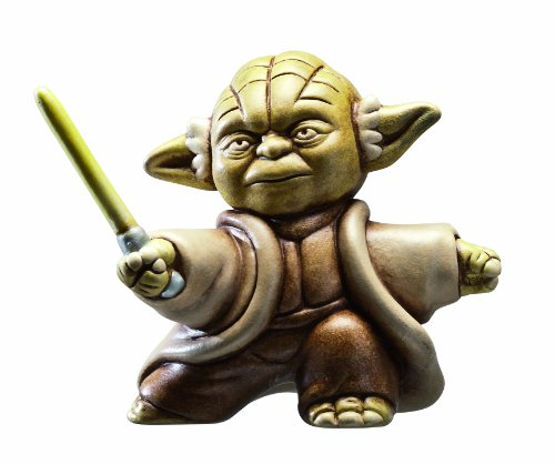 "Joy Toy Fighting Yoda Figura con Testo ""May the force be with you"", Argilla, Multicolore, 6x6x10,5 cm"