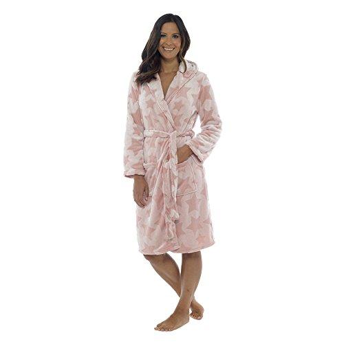 Foxbury - Albornoz con Capucha para Mujer Rosa Rosa 40/42 ES