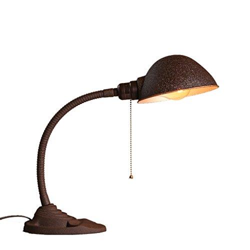 LOFAMI Retro Leselampe Creative Schreibtischlampe, Industrie-Art Schreibtisch-Schlafzimmer-Schlafsaal-Tabellen-Lampe, schäbiges schlaues traditionelles Licht (Lampen Traditionellen Tabelle)
