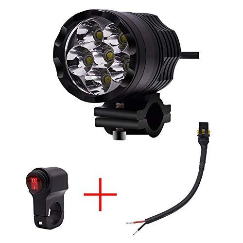 Zwei-lampe Flutlicht (TBAN Motorrad Fahrrad SUV ATV LKW 2X Universal Motorrad Scheinwerfer Flutlicht Nebel Licht LED Lampe Lichter 12V Tagfahrlicht,Black)