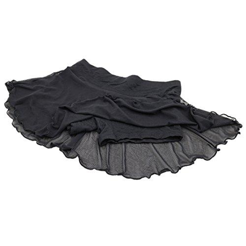 Sasairy Damen Skirt Short Boxershort Lang Nahtlos Schlüpfer Unterhose Damen Panties EU Größe 34/36 Schwarz