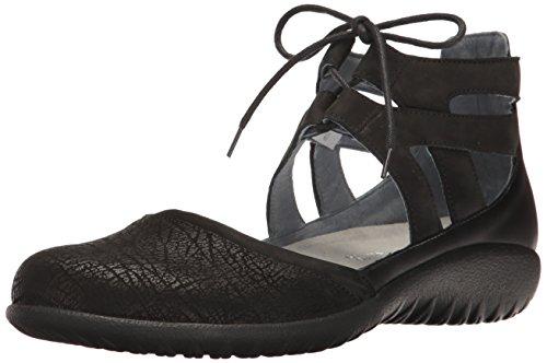 Naot Damen Schuhe Mary Jane Spangenschuhe Kata Echt-Leder Schwarz Combi 15434, Größe:42 (Crackle-leder Schwarz)