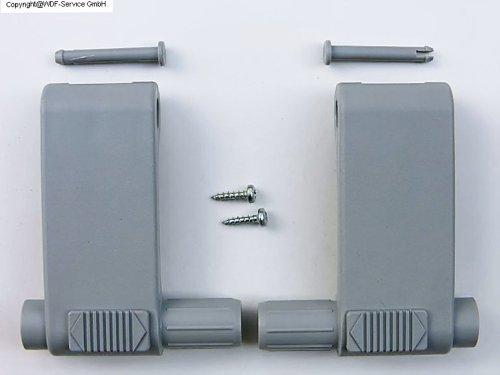 Griffhebel-Set, grau, für Braas/Dörken-Atelier-Fenster (BA/DA) Test