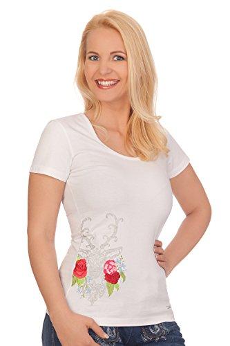hten Shirt 1/2 Arm - Dekoration - Weiß, Größe L (Ziegenbock Kostüm)