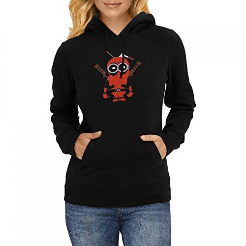 Fashionalarm Damen Kapuzen Pullover - Dead-Pool Min. Parodie | Fun Hoodie mit lustigem Motiv für Film Fans, (Dead Pool Anzug)