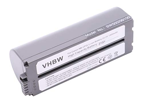 vhbw Li-Ion Akku 1400mAh (22.2V) für Drucker Kopierer Scanner Etiketten-Drucker Canon Selphy CP-100, CP-1000, CP-1200, CP-1300, CP-200, CP-220 -