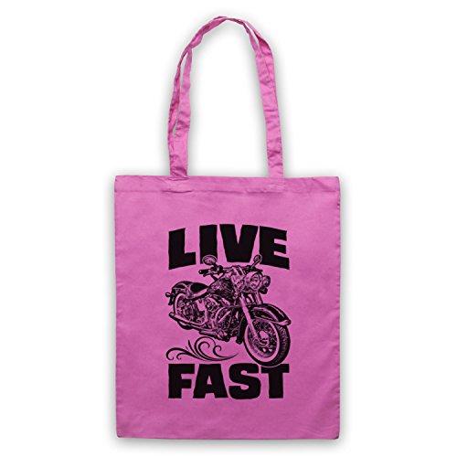 Live Fast Motorbike Umhangetaschen Rosa