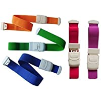 CAREOR 5 Pack Quick Release Tourniquet Bands Elastic Belt Medical Buckle Hemostatic Blood Tourniquet with Buckle at Home, Outdoors, Sports,Car, Camping, Workplace, Hiking & Survival