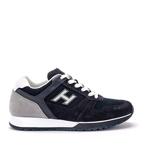 Hogan Sneaker H321 Blu in Suede, Taille UK: 8